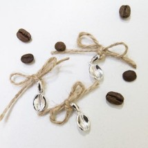 Подвеска серебряная «Зерно кофе»